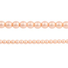 Light Peach Matte Czech Glass Round Pearl Beads 4mm Pk120