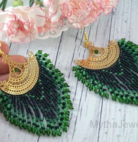 How to make Native American Inspired Fan Earrings - Step By Step Tutorial