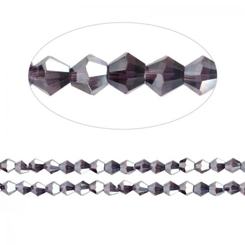 X- Essential Crystal 4mm Bicones Dark Purple AB Pk120