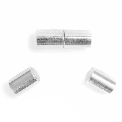 Silver Plated 5mm Barrel Magnetic Clasp Pk1