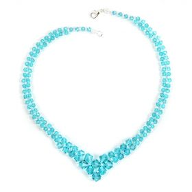 Beads Direct Graduated Bicone Lt Turquoise Necklace Kit made w/Swarovski Makes x1