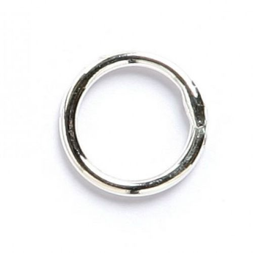 Soldered closed ring silver plated 8mm. Pack of 50