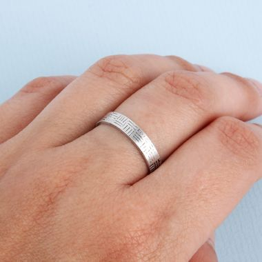Patchwork Stamped Ring