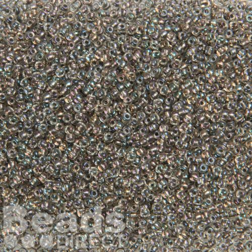 X-Toho Size 11 Round Seed Beads Gold Lustered Crystal/Opaque Grey 10g