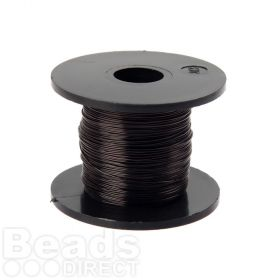 Black Coloured Copper Craft Wire 0.315mm 70metre Reel
