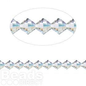 5328 Swarovski Crystal Bicones Xillion 3mm Crystal AB Pk24
