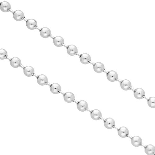 Ball chain / surgical steel / 2.0mm / silver / 1m