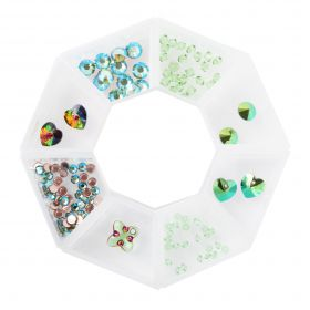 Greenery - Bead Selection in storage ring with Swarovski