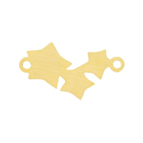 Stars / connector / surgical steel / 11x18x1mm / gold / 1pcs