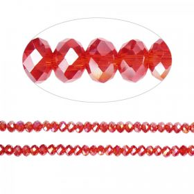 Essential Crystal Faceted 4mm Rondelle Siam AB 150pack