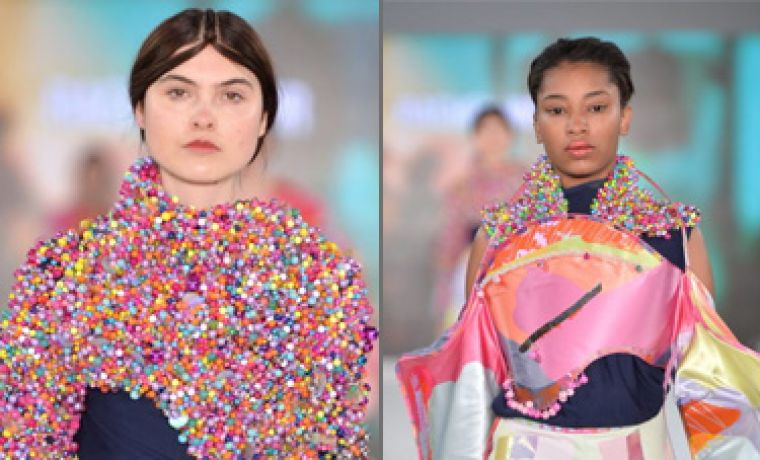 Talented designer makes beads the highlight of Graduate Fashion Week