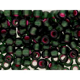 TOHO™ / Round 6/0 / Silver-Lined Frosted / Olivine-Pink Lined / 10g