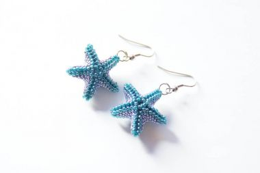 How to make a starfish TOHO earrings.