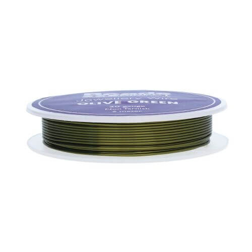 Olive Green Colour Copper Craft Wire 20 Gauge (0.8mm) 6metre Reel