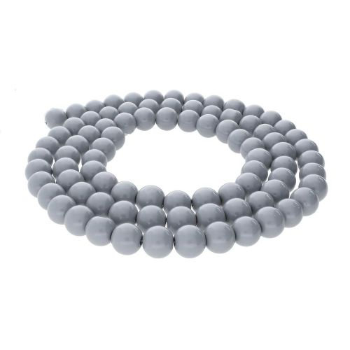 Milly™ / round / 4mm / grey / 215pcs
