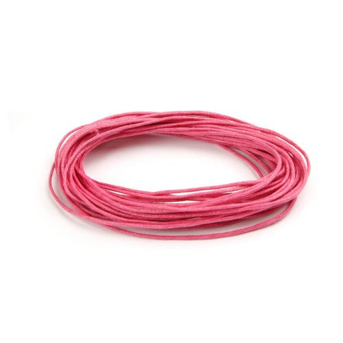 X Waxed Cotton Cord 1mm Fuchsia Pink 5metres