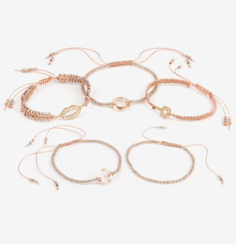 Gold Charm Macramé Bracelets | Take a Make Break