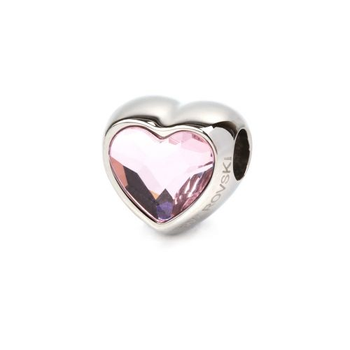 81951 Swarovski Crystal Heart BeCharmed Bead 14mm Rosaline Pk1