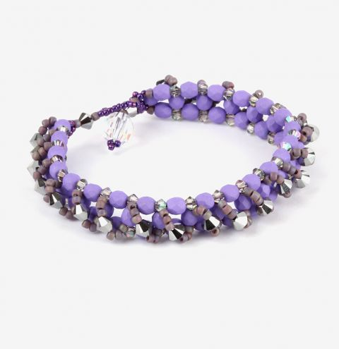 Learn how to make this Crystal Layers Bracelet - jewellery making tutorial
