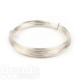 Silver Plated Copper Wire 1.25mm 3metre Coil Non Tarnish