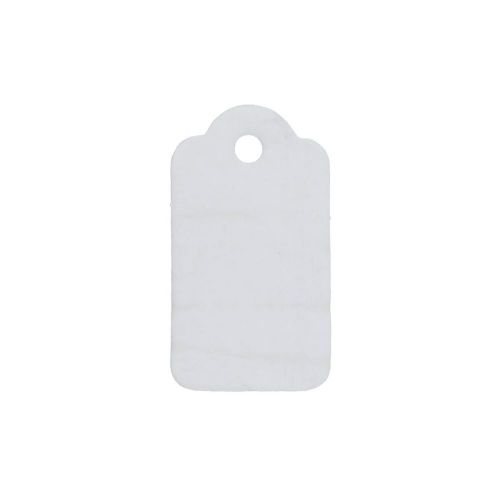 Labels for jewellery / rectangular / decorative / 33x18mm / white / 20pcs