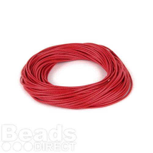 Shiny Coated Braiding Cord 1mm Red 10m