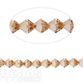 5328 Swarovski Crystal Bicones Xillion 4mm Crystal Metallic Sunshine Pk24
