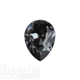 4320 Swarovski Crystal 13x18mm Drop Fancy Stone Crystal Silver Night F Pk1