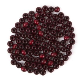 Preciosa Wood Beads 6mm Bordeaux Pk100
