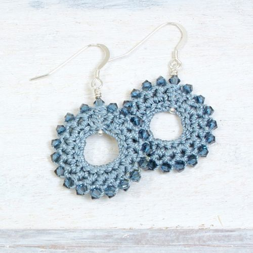 Denim Crochet Earring Kit by Dorothy Wood