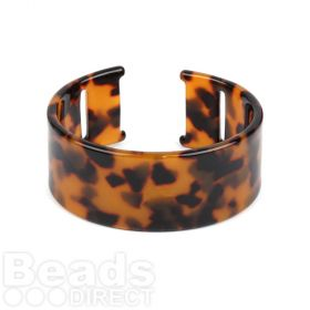 Tortoise Acetate Cuff Base With Holes 50x65mm Pk1