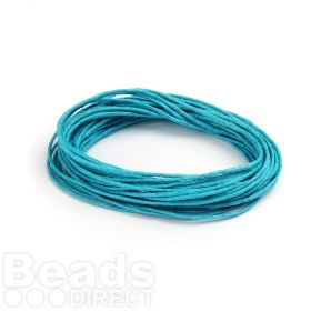 Waxed Cotton Cord 1mm Turquoise 5metres