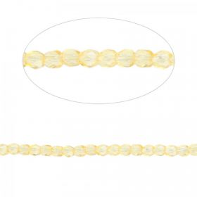 Preciosa Czech Fire Polished Beads 4mm Yellow Pk100