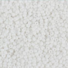 Preciosa Size 10 Round Seed Beads Opaque White 50g