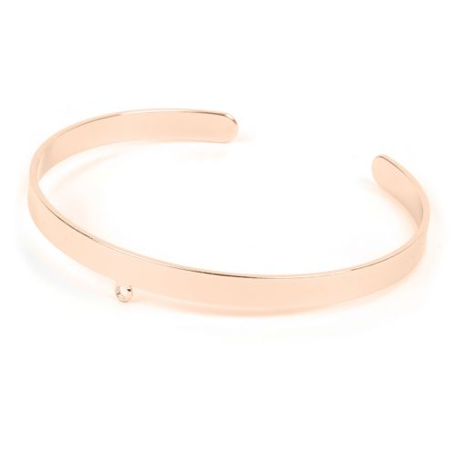 Rose Gold Plated Brass Bracelet Base with Loop 5mm/54mm Pk1
