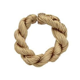 Mcord ™ / Macramé cord / nylon / 1mm / cream-gold / 27m