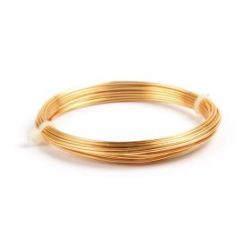 Gold Coloured Copper Wire 1mm 4metre Coil