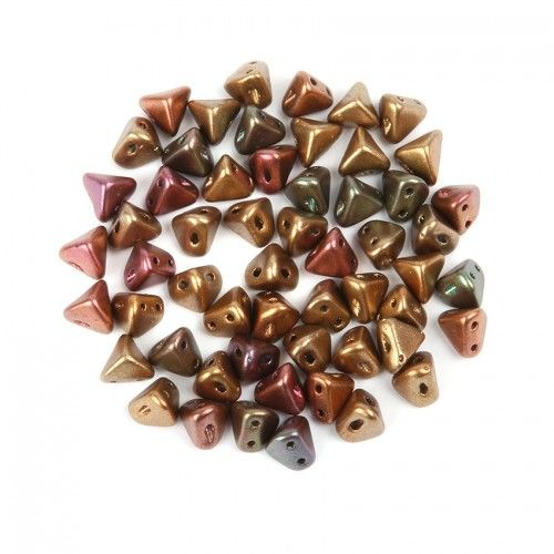Yellow Gold Metallic Iris Super Kheops Par Puca Beads 6mm 10g