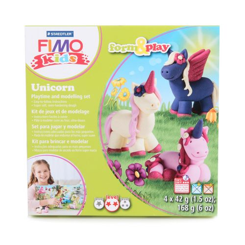 Staedtler Fimo Kids Unicorn Set Form and Play 4x42g(5.9oz)