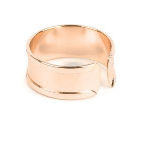Rose Gold Plated Ring Base For 5mm Cord Pk1