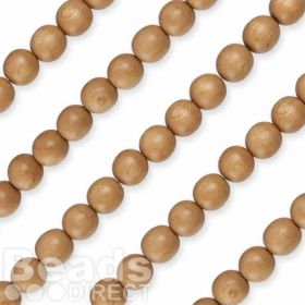"Rosewood Round Natural Wood Beads 10mm 16"" Strand"