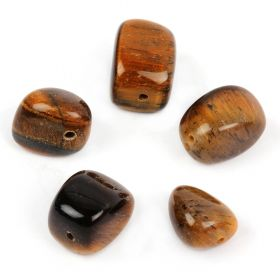 Tiger Eye Semi Precious Nugget Beads 10x14mm Pk5