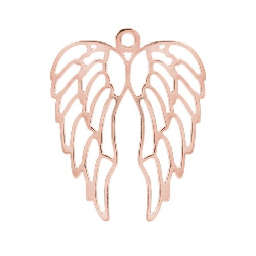 Rose Gold Plated Large Angel Wings Charm 46x57mm Pk1