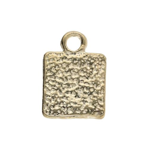 Hand made / charm pendant / 12x8x1mm / gold plated / 8pcs