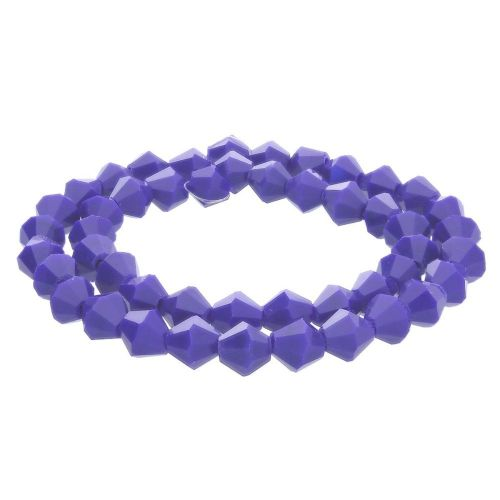 CrystaLove™ crystals / glass / bicone / 6mm / navy / lustered / 48pcs