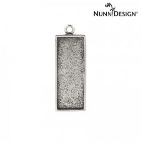 Nunn Design Antique Silver Charm Rectangle Bezel 11x29mm Pk1