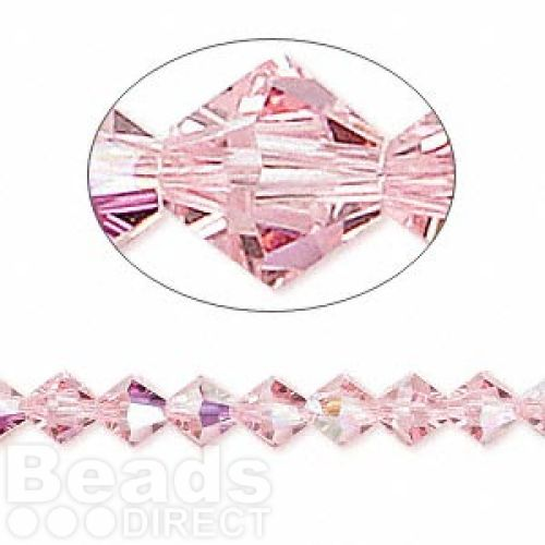 5328 Swarovski Crystal Bicones Xillion 6mm Light Rose AB Pk24