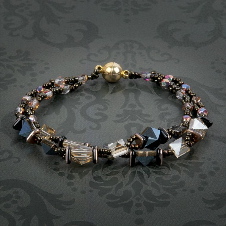 Square Hex Double Spike Bracelet by Joy Wignall