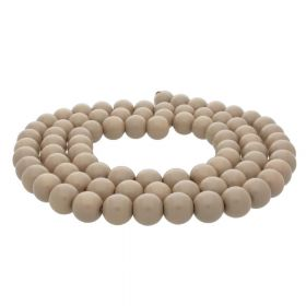 Milly™ / round / 10mm / light brown / 80pcs