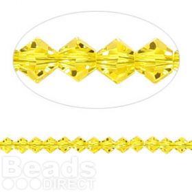 5328 Swarovski Crystal Bicones Xillion 4mm Citrine Pk24
